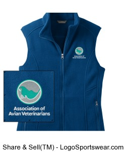Womens Eddie Bauer Embroidered Fleece Vest - Deep Sea Blue Design Zoom