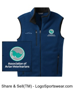 Mens Eddie Bauer Embroidered Fleece Vest - River Blue Design Zoom