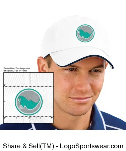 Embroidered Cap - White Design Zoom