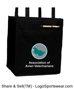 AAV Shopping Bag - Black Design Zoom