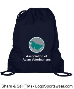 AAV Drawstring Bag - Navy Design Zoom